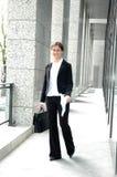Mulher de negócio alegre foto de stock royalty free