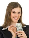 Mulher de negócio amigável. Isolado no branco. Fotos de Stock Royalty Free