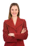Mulher de negócio amigável. Isolado no branco Imagem de Stock