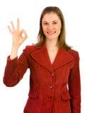 Mulher de negócio amigável. Isolado no branco. Fotografia de Stock Royalty Free