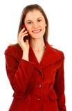 Mulher de negócio amigável. Isolado no branco Fotos de Stock Royalty Free