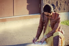 Mulher de negócio ao ar livre Foto de Stock