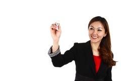 Mulher de negócio asiática Imagem de Stock