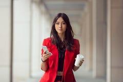 Mulher de negócio asiática ao ar livre Fotos de Stock
