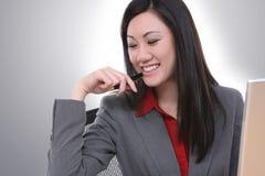 Mulher de negócio asiática atrativa Fotos de Stock Royalty Free