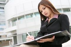 Mulher de negócio asiática bonita foto de stock