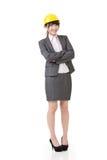 Mulher de negócio asiática do coordenador, do empresário ou do arquiteto imagem de stock royalty free