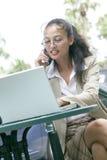 Mulher de negócio asiática nova fotografia de stock royalty free