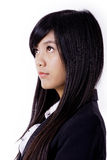 A mulher de negócio asiática olha acima imagens de stock royalty free