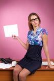 Mulher de negócio atrativa fotografia de stock royalty free