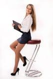 Mulher de negócio atrativa foto de stock
