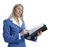 Mulher de negócio atrativa confiável foto de stock royalty free