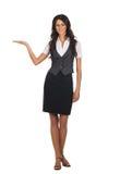 Mulher de negócio atrativa nova isolada no branco Fotografia de Stock Royalty Free