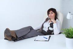 Mulher de negócio bem sucedida Imagens de Stock Royalty Free