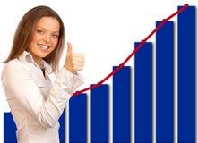 Mulher de negócio bem sucedida fotos de stock royalty free