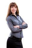 Mulher de negócio bem sucedida de sorriso dos jovens Imagens de Stock Royalty Free
