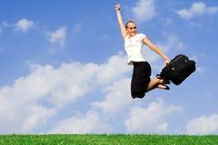 Mulher de negócio bem sucedida feliz Fotos de Stock
