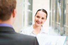 Mulher de negócio bonita Foto de Stock Royalty Free