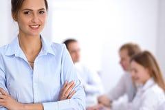 Mulher de negócio bonita na reunião Imagens de Stock Royalty Free