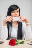 Mulher de negócio bonita nova Imagem de Stock