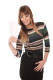 Mulher de negócio bonito com vales Imagens de Stock