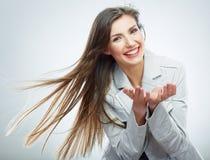 Mulher de negócio - 2 Cabelo no movimento foto de stock royalty free