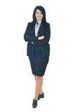 Mulher de negócio cheia do comprimento imagens de stock