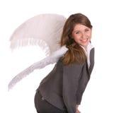 Mulher de negócio com asa do anjo. imagem de stock royalty free
