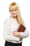 Mulher de negócio com caderno Foto de Stock Royalty Free