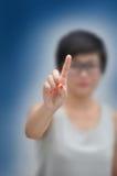 Mulher de negócio com conceitos do negócio Fotografia de Stock