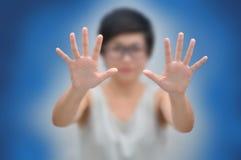 Mulher de negócio com conceitos do negócio Fotos de Stock Royalty Free