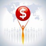 Mulher de negócio com dólar Imagens de Stock Royalty Free
