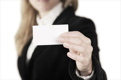 Mulher de negócio com papel Foto de Stock