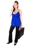 Mulher de negócio com pasta. fotografia de stock