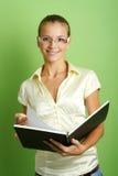 Mulher de negócio com um dobrador Foto de Stock Royalty Free