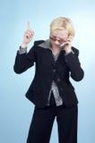 Mulher de negócio com vidros 07 Fotografia de Stock Royalty Free