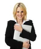 Mulher de negócio consideravelmente loura Imagem de Stock