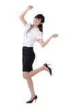 Mulher de negócio da dança imagem de stock