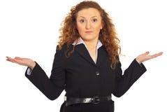 Mulher de negócio da maravilha foto de stock