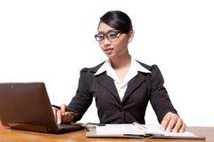 Mulher de negócio de Ásia Fotografia de Stock Royalty Free