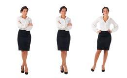 Mulher de negócio de cabelo escura nova Imagens de Stock Royalty Free