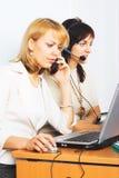 Mulher de negócio de dois jovens Foto de Stock