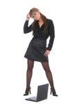Mulher de negócio de Pazzled Imagens de Stock