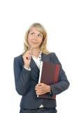 Mulher de negócio de pensamento Imagens de Stock