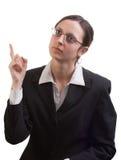 Mulher de negócio de pensamento Fotografia de Stock
