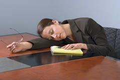 Mulher de negócio de sono Imagens de Stock Royalty Free