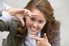 Mulher de negócio de sorriso fotos de stock royalty free