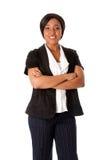 Mulher de negócio de sorriso Fotografia de Stock Royalty Free