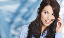 Mulher de negócio de sorriso bem sucedida Foto de Stock Royalty Free