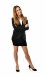 Mulher de negócio de sorriso bonita - corpo completo Fotos de Stock Royalty Free
